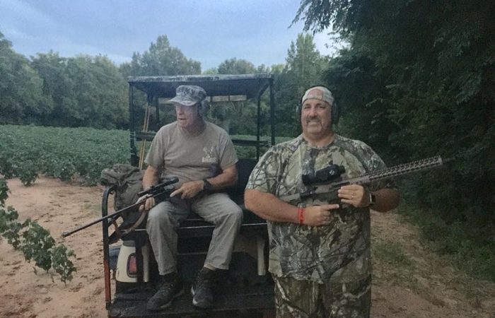 Working a peanut field with a couple of Heroes, Johnny (Army Vet) and John (Army Vet)